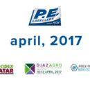 Calendrier des salons du conditionnement de P.E. LABELLERS, avril 2017